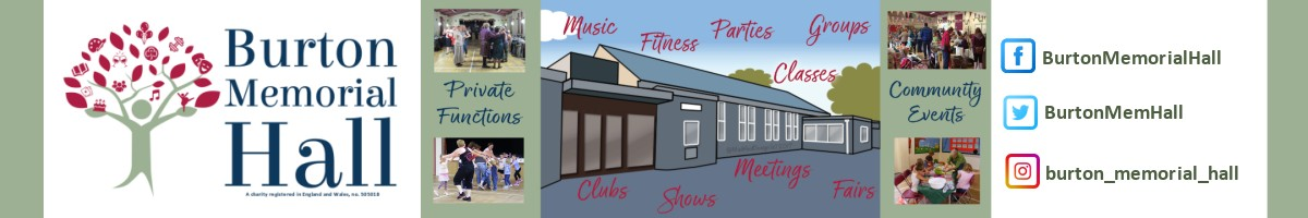 Burton Memorial Hall website header
